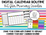 DIGITAL Calendar Routine Kit for Primary Grades- Distance Learning