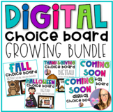 DIGITAL Choice Board BUNDLE - Distance Learning
