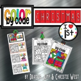 DIGITAL Christmas Color by the Code First Grade