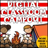 DIGITAL Classroom Camping for an End of the Year Celebration - Distance Learning