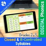 DIGITAL Closed & R-Controlled Syllable Sort Grades 2-3 Dis