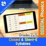DIGITAL Closed & Silent-E Syllable Sort Gr 2-3
