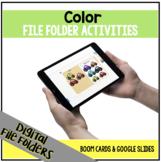 DIGITAL Color File Folder Activities