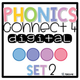 Connect 4 - Phonics Center Game - Set 2 - Paper & Digital Bundle