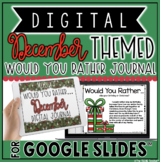 "DIGITAL DECEMBER THEMED ""Would You Rather..."" JOURNAL IN GOOGLE SLIDES™"