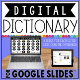 DIGITAL DICTIONARY FOR GOOGLE SLIDES™  | DISTANCE LEARNING