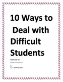 DIGITAL DOWNLOAD NOTES FOR TEACHERS (THE WAYS TO HANDLE DIFFICULT STUDENTS