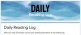 DIGITAL Daily Reading Log (GOOGLE FORMS)