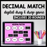 DIGITAL Decimal Matching Game: Word Form, Expanded Form, Unit Form
