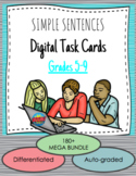 Simple Sentences DIGITAL Boom! Task Card Mega Bundle - Lit