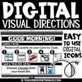 Visual Direction Cards | Morning Meeting Slides | Google C