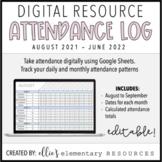 DIGITAL + EDITABLE: Attendance Log