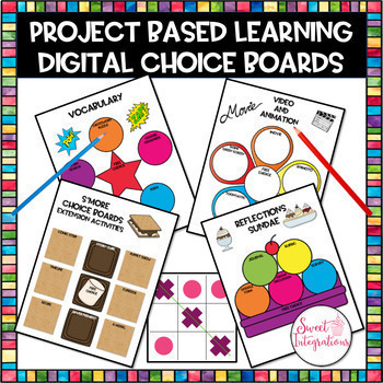 Digital Editable Choice Boards Project Based Learning Distance