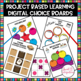 DIGITAL EDITABLE CHOICE BOARDS | Project Based Learning | Distance Learning