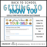 DIGITAL + EDITABLE: Getting to Know Your Child Questionnaire
