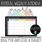 DIGITAL Weekly Agenda - For Google Slides or Power Point -