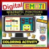 DIGITAL EMOJI - Quadratic Functions: Y-Intercept - SF DISTANCE LEARNING