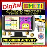 DIGITAL EMOJI - Quadratic Functions: Y-Intercept - VF DISTANCE LEARNING