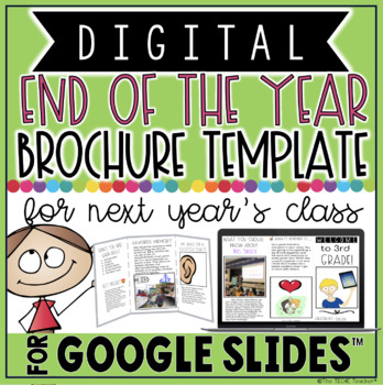 DIGITAL END OF THE YEAR BROCHURE TEMPLATE IN GOOGLE SLIDES™