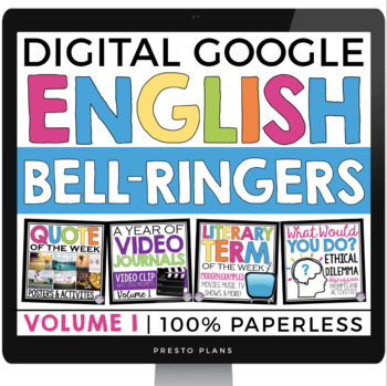 digital english bell ringers vol 1 paperless version use with