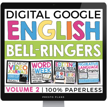digital english bell ringers vol 2 paperless version use with