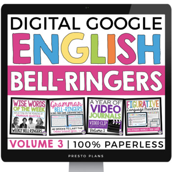 DIGITAL ENGLISH BELL RINGERS (VOL 3): PAPERLESS (GOOGLE)   DISTANCE LEARNING