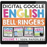 DIGITAL ENGLISH BELL RINGERS (VOL 4): PAPERLESS VERSION (USE WITH GOOGLE DRIVE)