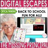 DIGITAL ESCAPE ROOM: Back to School - The Missing Principal