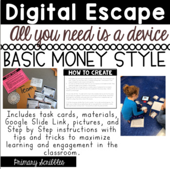 DIGITAL ESCAPE ROOM:  Basic Money and Counting Coins
