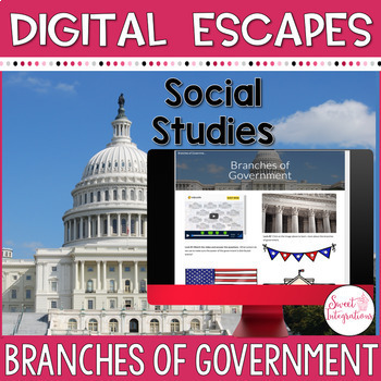 DIGITAL ESCAPE ROOM | Branches of Government | Distance Learning