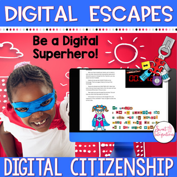 DIGITAL ESCAPE ROOM | Digital Citizenship Escape Cyberspace | Distance Learning