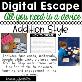 DIGITAL ESCAPE ROOM:  Double Digit Addition with Regrouping