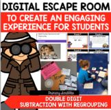 DIGITAL ESCAPE ROOM:  Double Digit Subtraction with Regrouping