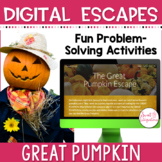DIGITAL ESCAPE ROOM: The Great Pumpkin Math and Life Cycle 3rd and 4th Grade