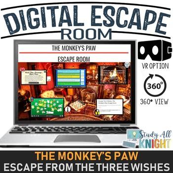Digital Escape Room, The Monkey's Paw, W W  Jacobs, Escape