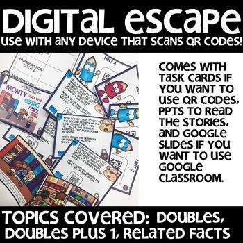 DIGITAL ESCAPE (doubles, doubles plus 1, related facts)