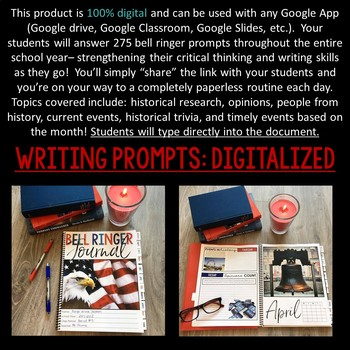 DIGITAL Early American History Bell Ringer Journal for Entire School Year