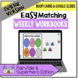 DIGITAL Easy Matching Weekly Workbooks - Fairy Tale and Su