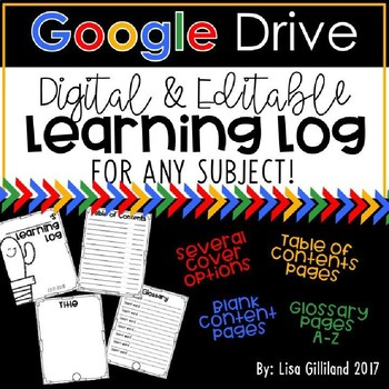 DIGITAL Editable Learning Log