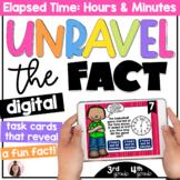 DIGITAL Elapsed Time Task Cards   4th Grade   5th Grade   Google Classroom