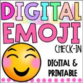 DIGITAL Emoji Check-In   GOOGLE   Distance Learning   EDITABLE