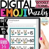DIGITAL Emoji Puzzles Set 1 | Puzzles for Google Forms™ |
