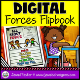 Forces and Motion DIGITAL Flipbook (Google Classroom Dista