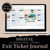 DIGITAL Exit Ticket Journal for ANY Subject: 275 Prompts for Grades 5-12
