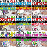 DIGITAL FIRST GRADE ELA CENTERS Bundle FOR THE ENTIRE YEAR