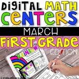 DIGITAL FIRST GRADE MARCH MATH CENTERS