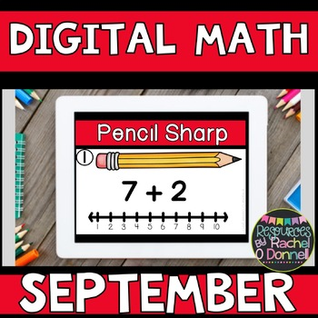 DIGITAL MATH CENTERS FIRST GRADE SEPTEMBER for Google Slides ®