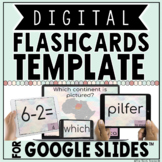 DIGITAL FLASHCARDS TEMPLATE IN GOOGLE SLIDES™