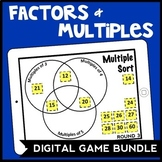 DIGITAL Factors & Multiples: Number Sense Game Bundle for Google Drive