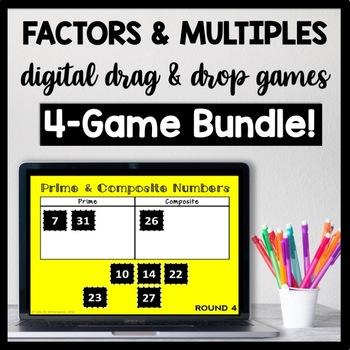 DIGITAL Factors & Multiples: Number Sense Game Bundle for Google Drive
